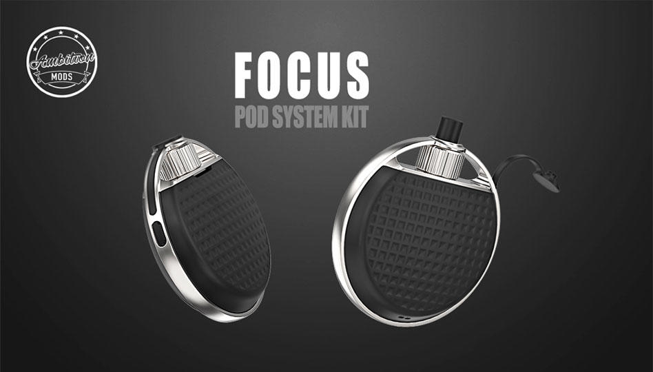Focus Pod System Kit By Ambition Mods with smart 4ml Refillable Catridge