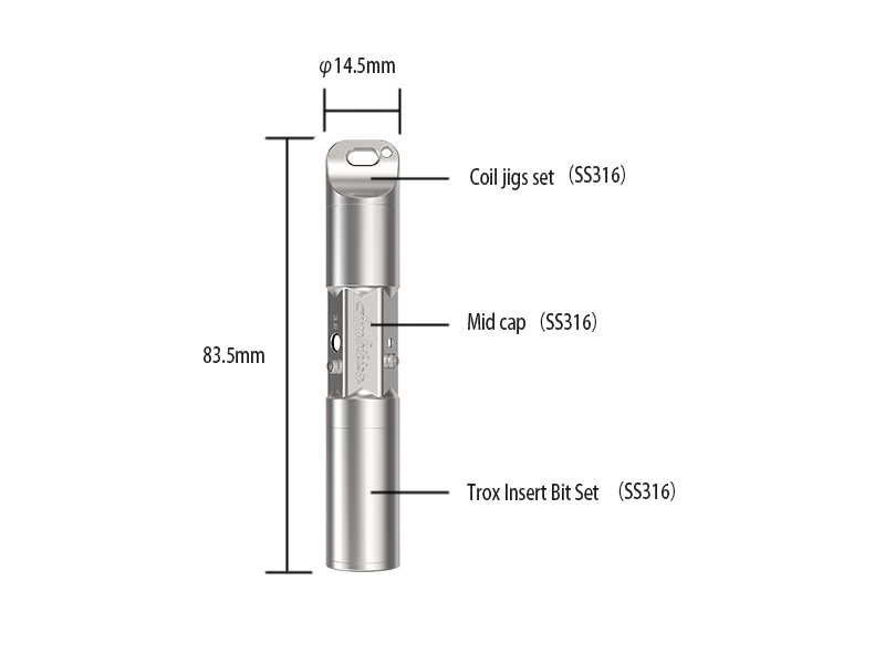 Polymer V2 Ambition vape tool 86 mm high with coil jig & screw driver 2 in 1 new arrival-5