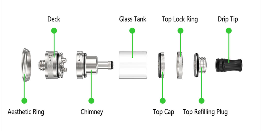 adjustable RTA rebuildable tank atomizer supplier for shop