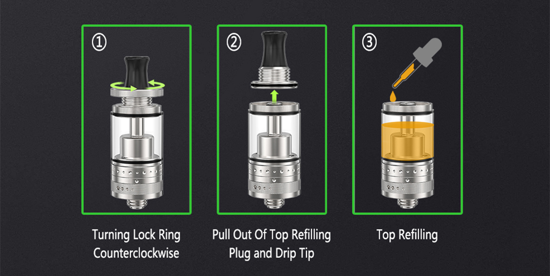 ejuice RTA rebuildable tank atomizer factory price for shop-7