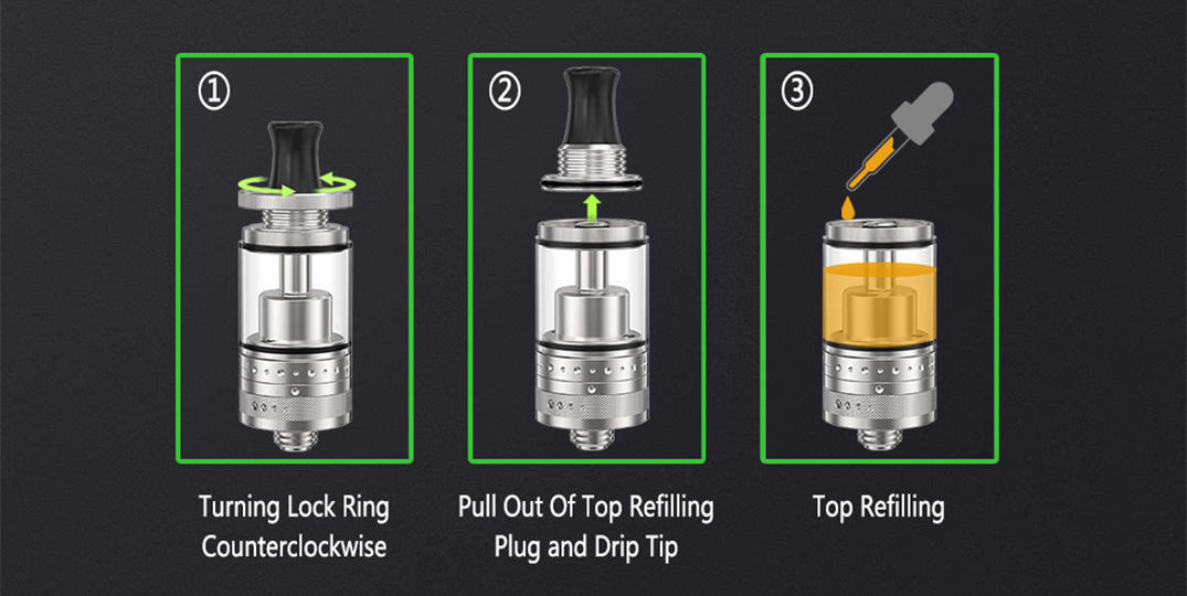 adjustable RTA rebuildable tank atomizer factory price for home ambitionmods