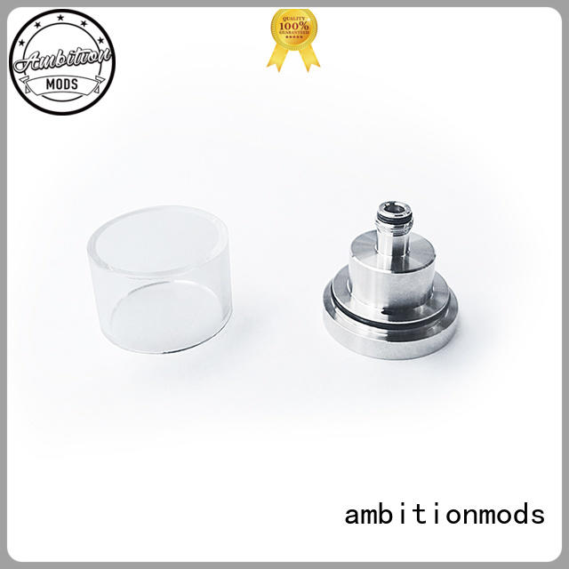 ambitionmods short vape glass tank with good price for sale
