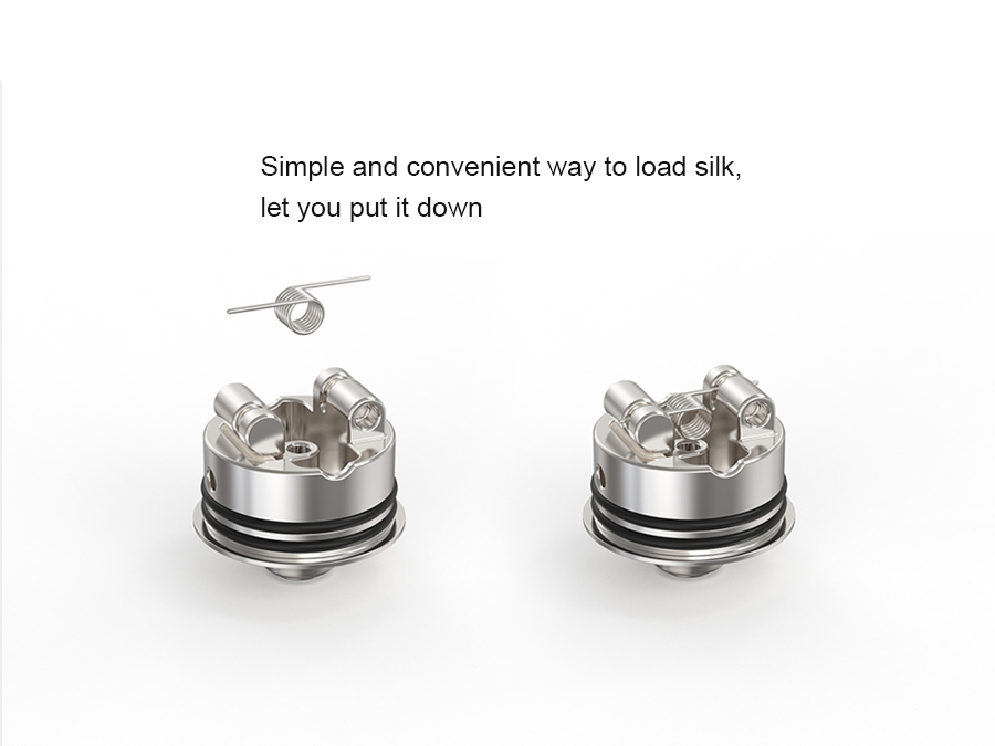 Spiral MTL RDA Ambition 18 mm diameter with 5 Air holes control Anti-condensate structure-6