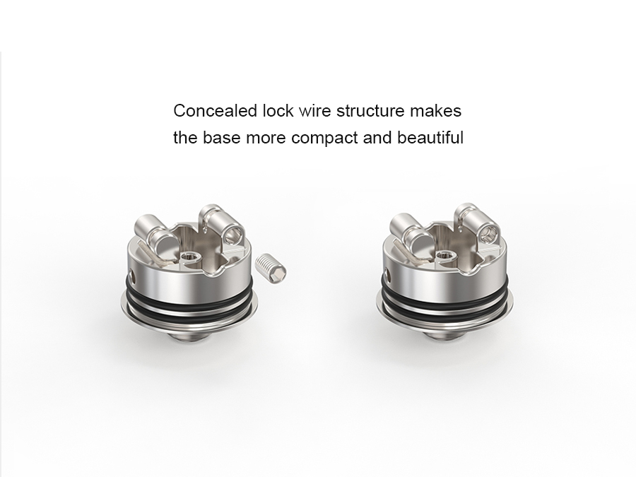 Spiral MTL RDA Ambition 18 mm diameter with 5 Air holes control Anti-condensate structure-7