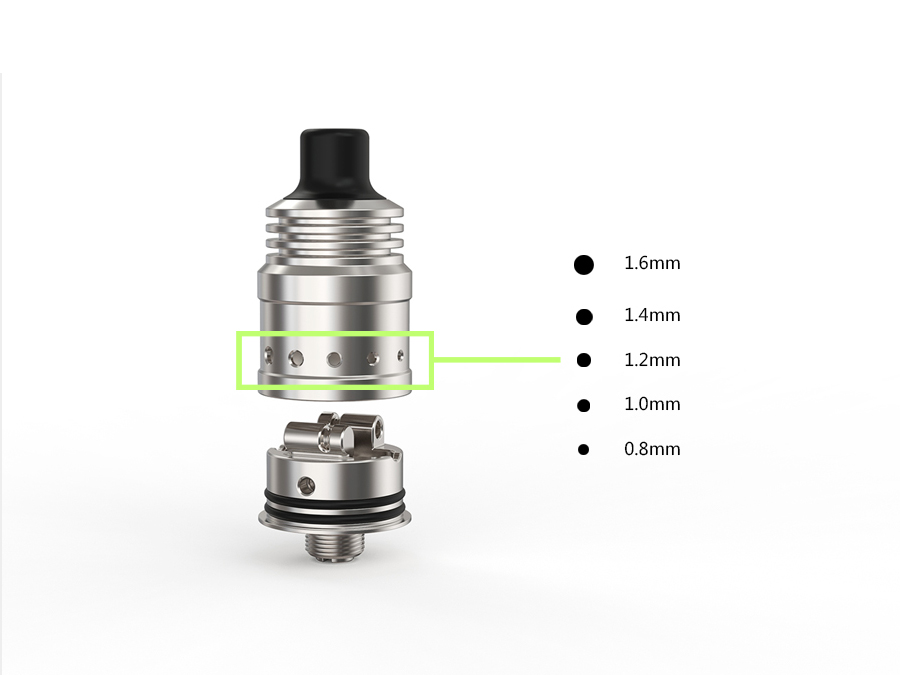 Spiral MTL RDA Ambition 18 mm diameter with 5 Air holes control Anti-condensate structure-8