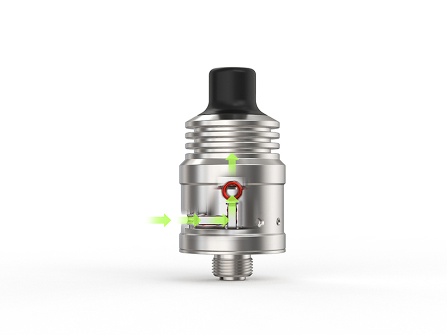 Spiral MTL RDA Ambition 18 mm diameter with 5 Air holes control Anti-condensate structure-11