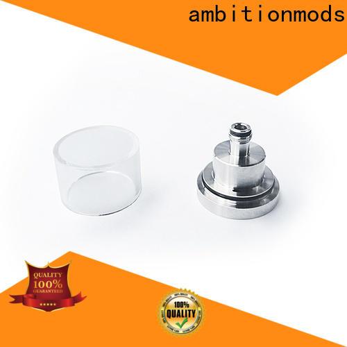 ambitionmods quality short vape glass tank design for sale