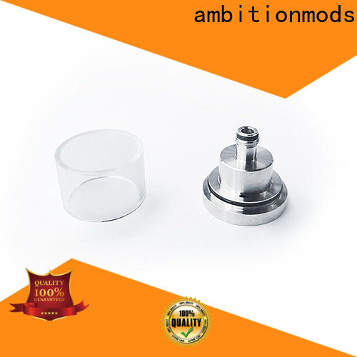ambitionmods quality short vape glass tank design for sale