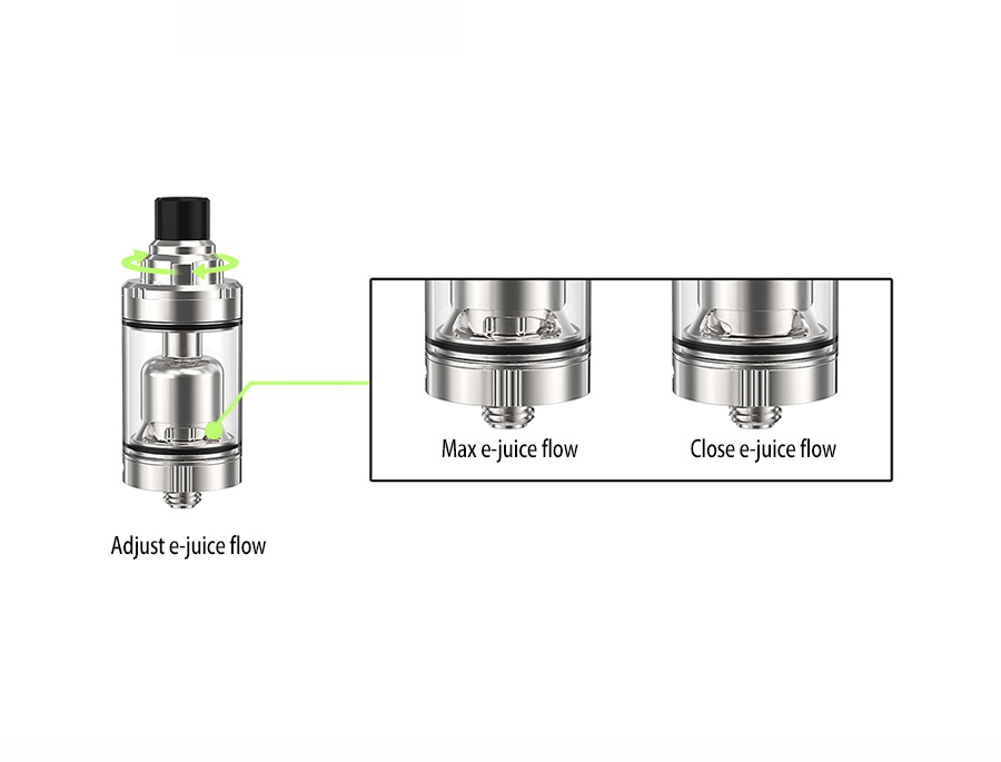 Ambition 2.0 ml &3.5 ml tank with top refilling and adjust e-juice flow 22 mm airflow control Gate MTL RTA-4